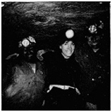 Dorothy with Kentucky coal miners.